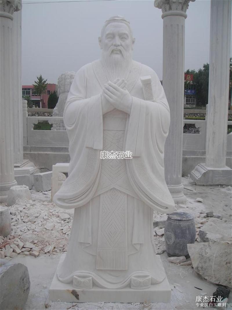 汉白玉人物雕像 康杰石业