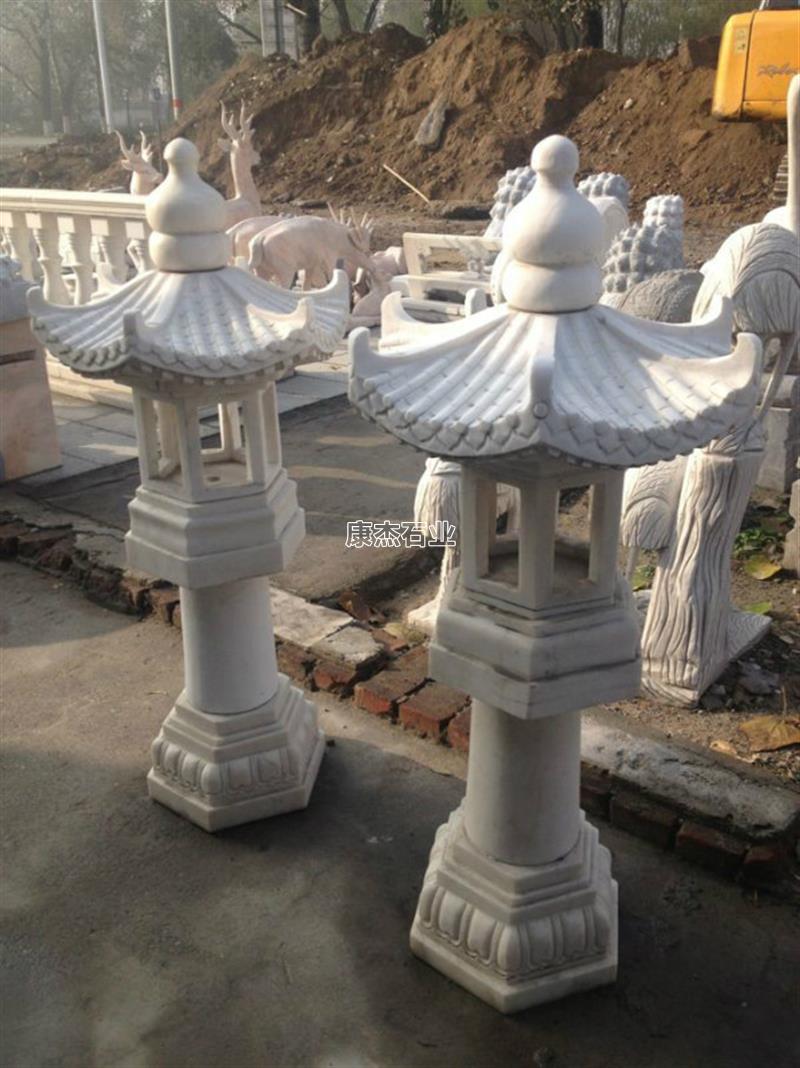汉白玉石灯 石灯雕塑